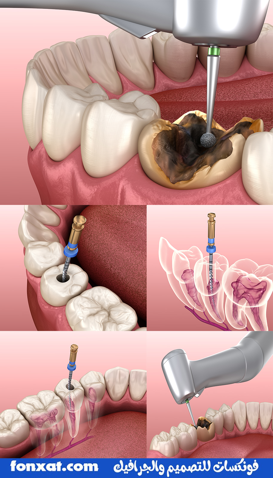 A set of 9 photos of the highest quality in the field of dentistry and dental clinics, used with professional designs