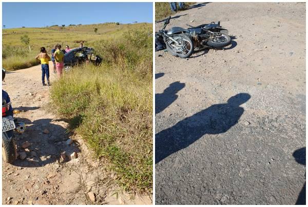 Batida entre moto e carro deixa dois mortos na MG-459, em Monte Sião