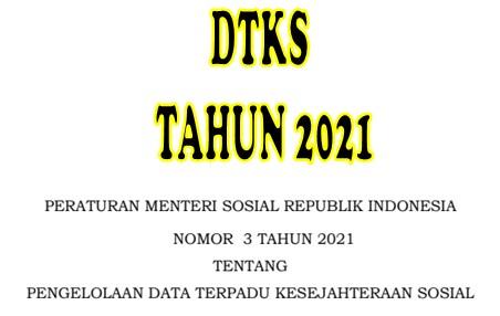 Permensos No 3 Tahun 2021 DTKS