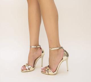 sandal de ocazii elegante cu toc inalt ieftine