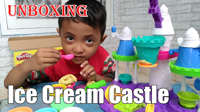 Serunya Bermain Playdoh Ice Cream Castle