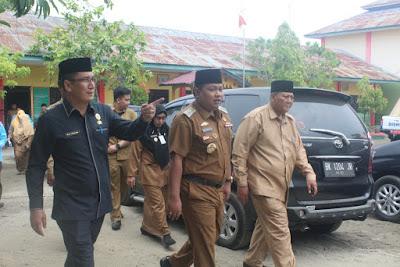 Kakankemenag dan Walikota Monitoring Pelaksanaan UNBK di MTsN Tanjungbalai