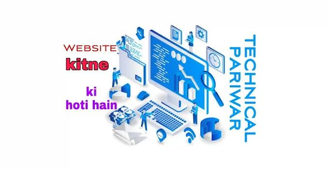 वेबसाइट कितने प्रकार की होती हैं Website kitne prakar ki hoti hai