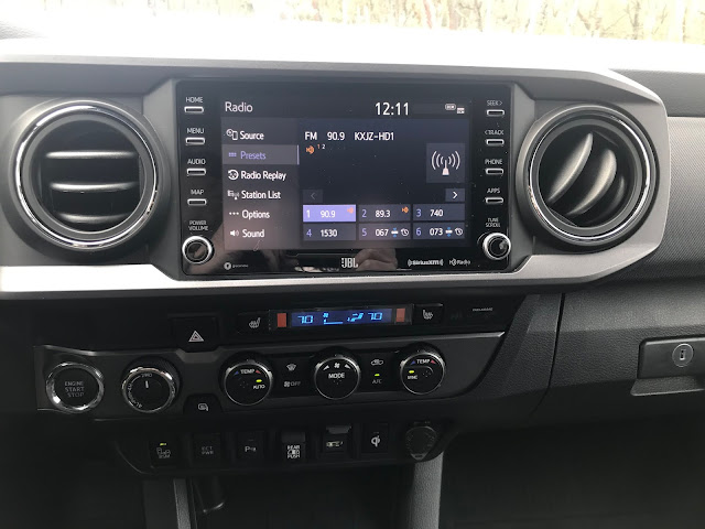 Infotainment and HVAC in 2020 Toyota Tacoma TRD PRO