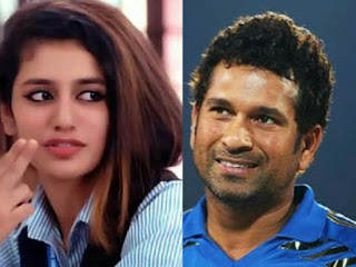 Priya Prakash Warrier shared this picture of Sachin Tendulkar on twitter