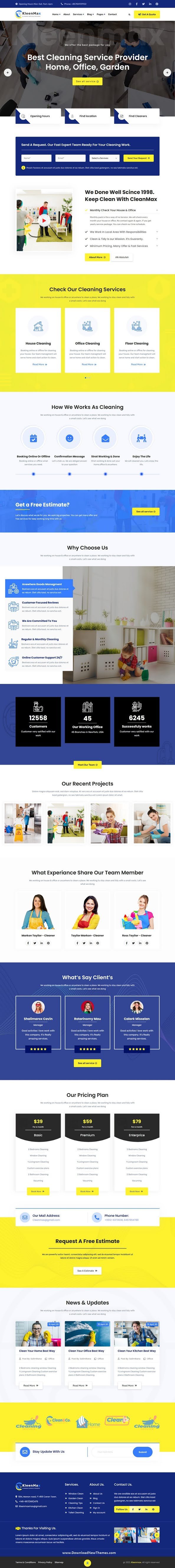 Cleaning Services and Company HTML Template