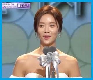 Hwang Jung Eum at 2015 MBC Drama Awards