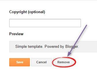 Cara Menghapus Powered By Blogger Dari Footer