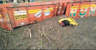 रेती तस्करी करणाऱ्या ट्रकला भीषण अपघात