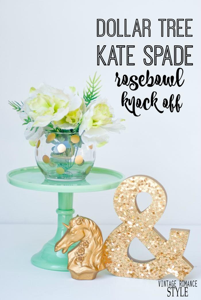 Knock It Off DIY Dollar Tree Kate Spade Pearl Place Rosebowl