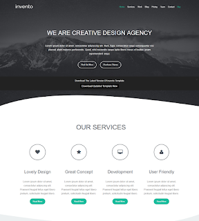 Template agency INVENTO BLOGGER TEMPLATE.