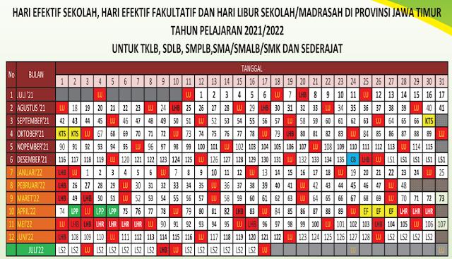 Download Kalender Pendidikan 2021 dan 2022 Jawa Timur pdf