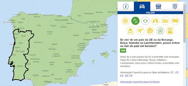 Covid-19: UE fornece mapa com restrições de circulação