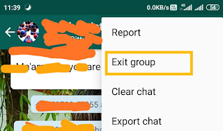How to close whatsapp Group