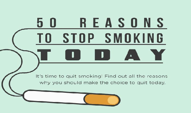50 Reasons to Stop Smoking TODAY #infographic