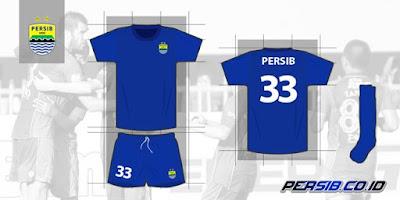 Warna Biru Jersey Kandang Persib Bandung 2017 Lebih Gelap