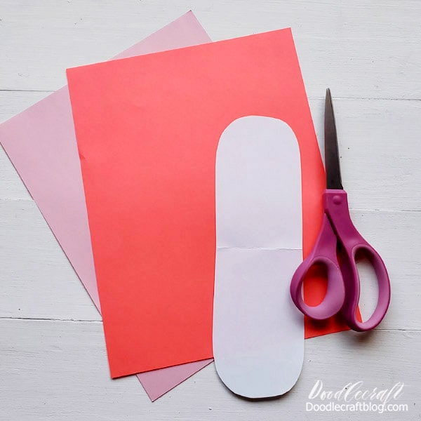 Supplies Needed for Woven Paper Heart: 2 Colors of Lightweight Paper (this does not work with cardstock) Scissors