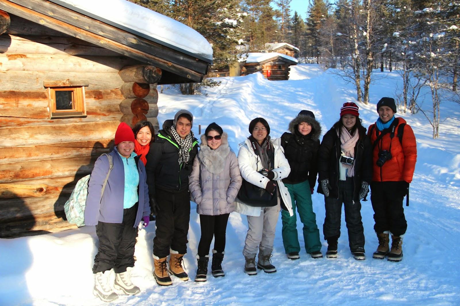 Winter at the Igloo Village, Kakslauttanen, Finland