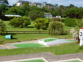 Arnold Palmer Mini Golf course in Exmouth, Devon