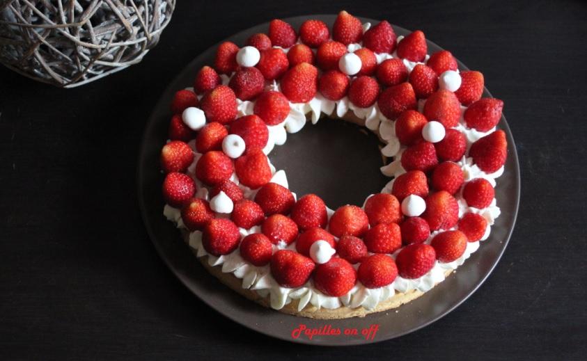Papilles on off tarte aux fraises et la cr me au mascarpone vanill e au thermomix ou sans - Fond de tarte palet breton ...