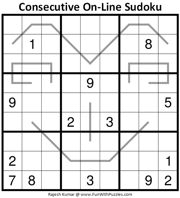 Consecutive On-Line Sudoku Puzzle (Daily Sudoku League #222)