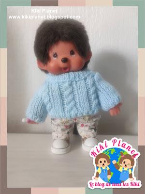 kiki monchhichi fait main pull sweater handmade