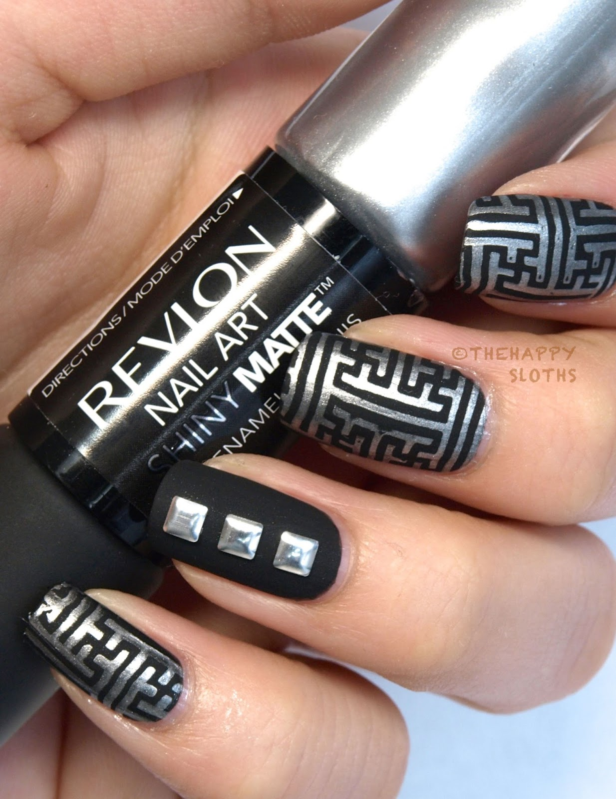 Revlon Nail Art Shiny Matte Nail Enamel In Quot Leather Amp Lace