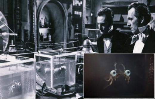 Still plus insert, Revenge of Frankenstein, 1958