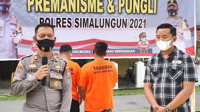 Polsek Bangun Tangkap 2 Pelaku Curas Asal Siantar Ngaku Leasing
