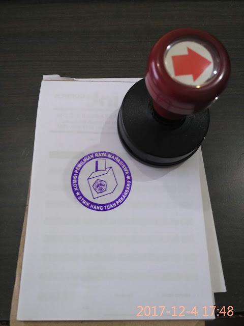 Stempel Komisi Pemilihan Raya Mahasiswa