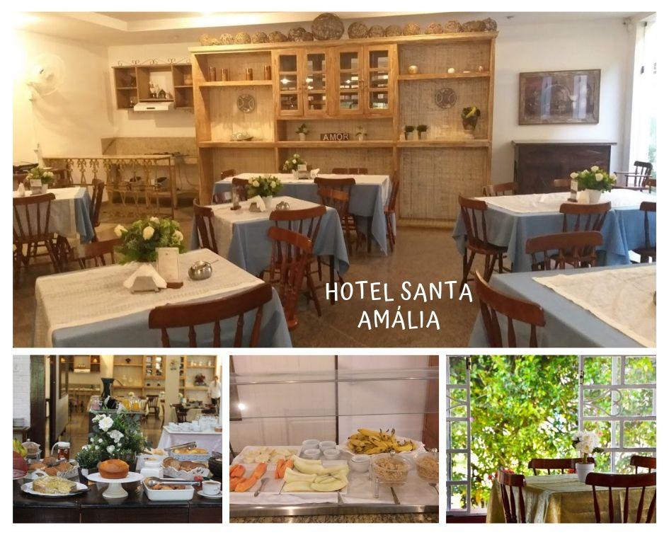 Restaurante do Hotel Santa Amália, em Vassouras, no Vale do Café