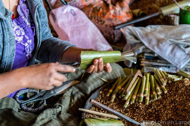 Fabrique de cheroots - Nampan - Lac Inle - Birmanie Myanmar