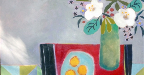 "Contemporary Abstract Still Life Art Painting ""Easy to Love"" by Santa Fe Artist Annie O'Brien Gonzales"