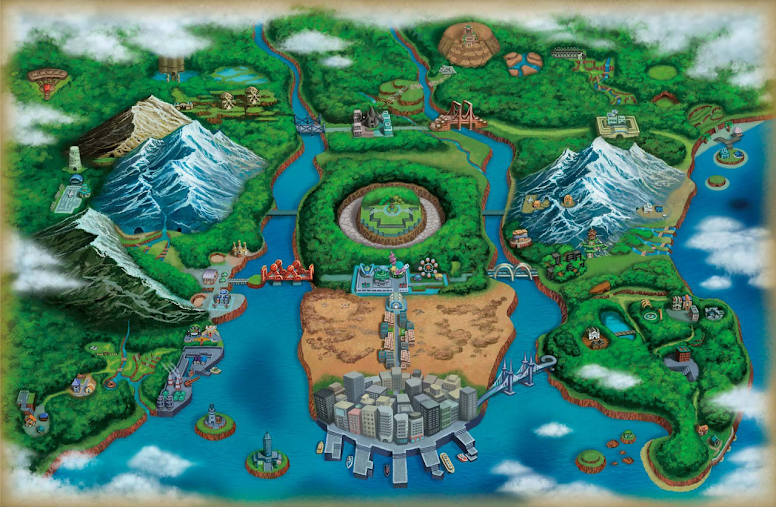 Unova Mapa