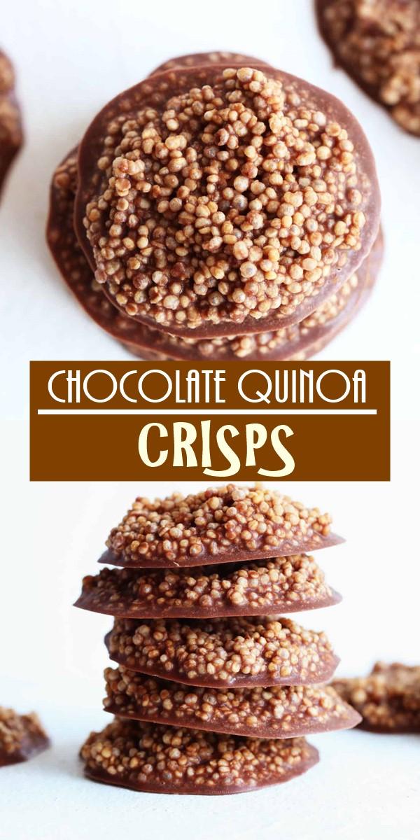 CHOCOLATE QUINOA CRISPS #cookiesrecipes