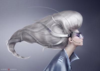 Manipulación o fotomontaje  fotográfico peinado de una mujer