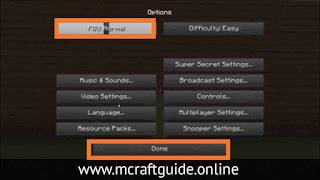 Minecraft PC FOV Settings