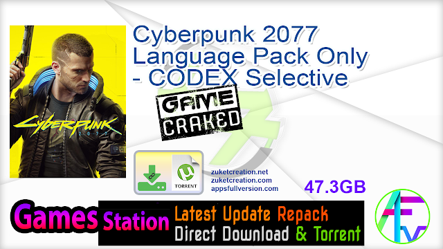Cyberpunk 2077 Language Pack Only – CODEX Selective