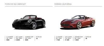 location voiture luxe moins cher paris