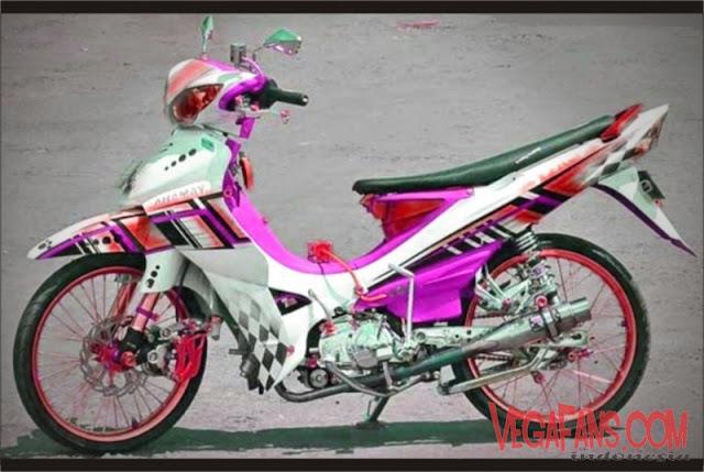 Jupiter Z Modif Motor Kontes Warna Putih Ungu
