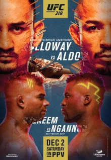 predictions for UFC 218 pay-per-view Holloway vs Aldo