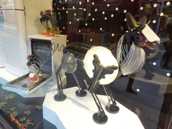 Peter Jones Christmas window wolf
