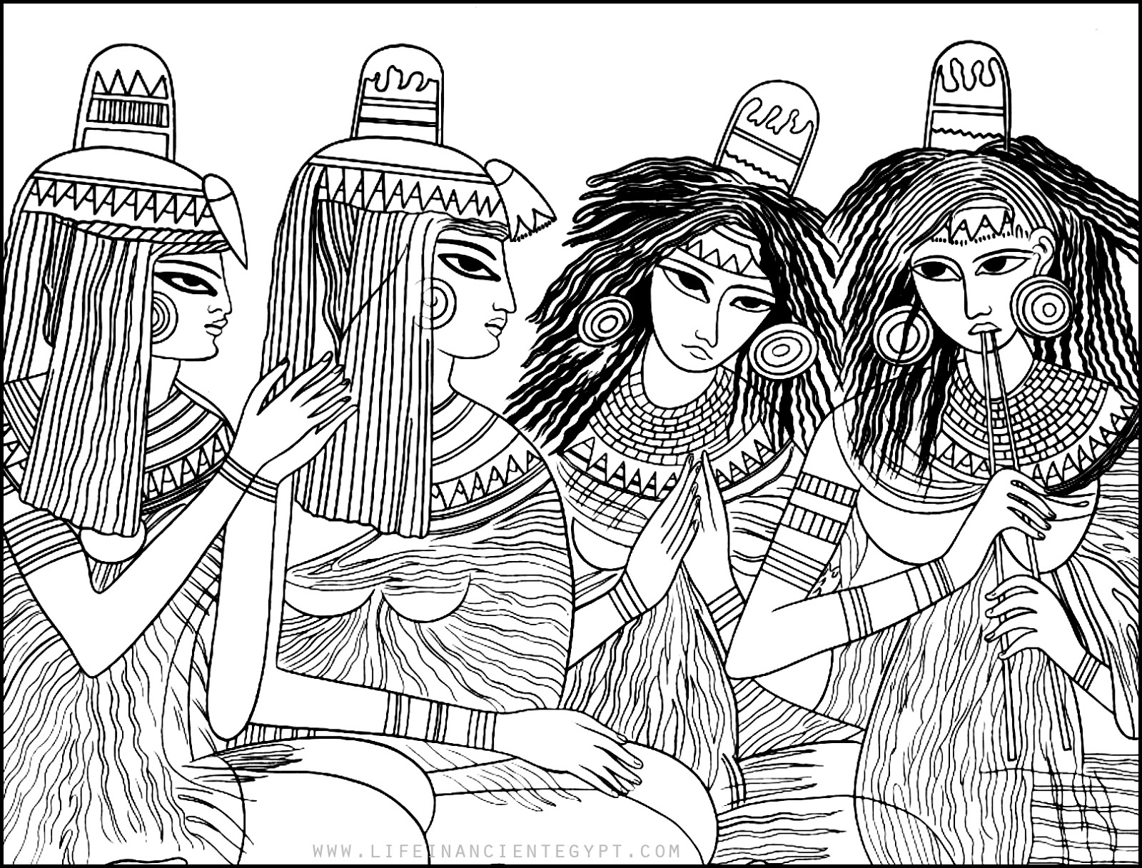 Click on the below best printable Egypt Coloring Pages to download ... | 1216x1600