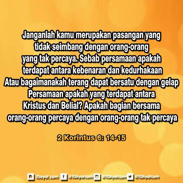 2 Korintus 6: 14-15