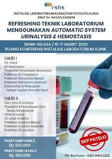 Refreshing Teknik Laboratorium Menggunakan Automatic System Urinalysis & Hemostasis