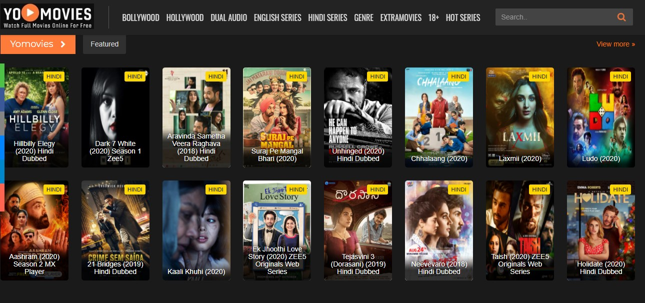 Yomovies - Download Free All Latest Bollywood, Hollywood, Tamil, Telugu, Kannada Movies And Web Series