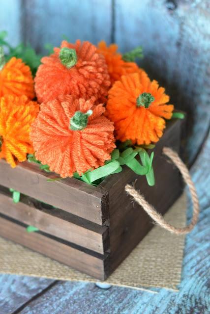 easy diy yarn pumpkins