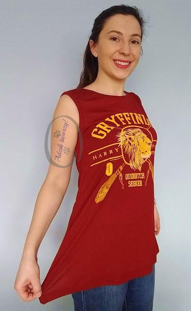 Adzik tworzy - szycie DIY bluzka trapezowa z przeróbki t-shirtu