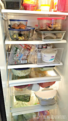 Sandwich fixins fridge organizer - makes for quick and easy lunches in the morning