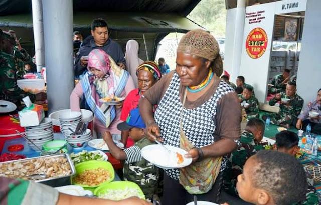 Rayakan hari jadi ke 71, Yonif Raider 515  Kostrad di Lanny Jaya
